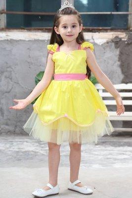 🎃❤現貨N067❤🎃萬聖節聖誕節兒童演出服美女與野獸貝兒公主連衣裙夏款服生日party裙禮服