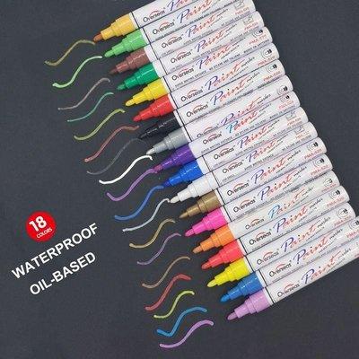 可樂屋 Overseas新款輪胎油漆筆彩色記號筆標簽筆DIY相冊涂鴉18色套裝