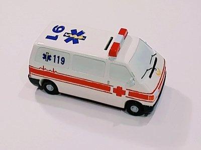 全館滿6件免運 119 陶瓷救護車 火神的眼淚 送給孩子一個夢想 造型存錢筒 撲滿 隱藏版    收藏用
