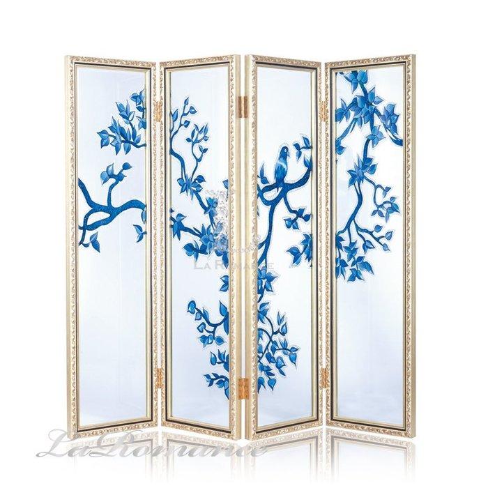 【芮洛蔓 La Romance】手工彩繪玻璃中式屏風 - 雅韻