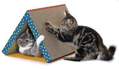*WANG*【395】 美國Petstages《Fold Away Scratching Tunnel‧三角貓隧道》