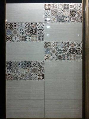 ◎冠品磁磚精品館◎進口精品 高亮釉數位噴墨壁磚+花磚- 30X60(一) 新北市