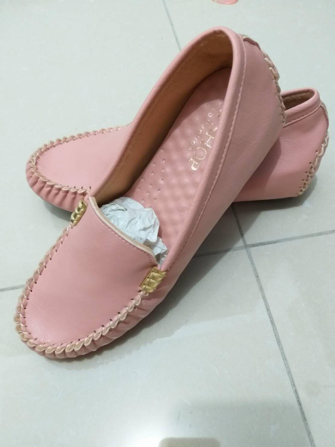 粉色系 四季好搭款 內增高素面皮革休閒鞋