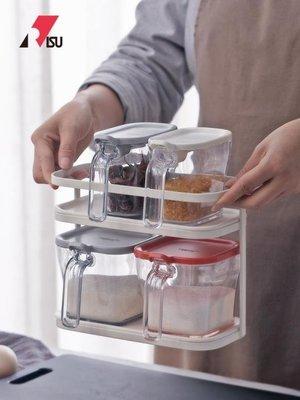 油壺RISU日式廚房雙層調料盒置物架家用塑料調味瓶罐收納架儲物架   全館免運