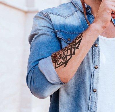 【萌古屋】Z系列動物圖騰手臂大圖 - 男女防水紋身貼紙刺青貼紙K34