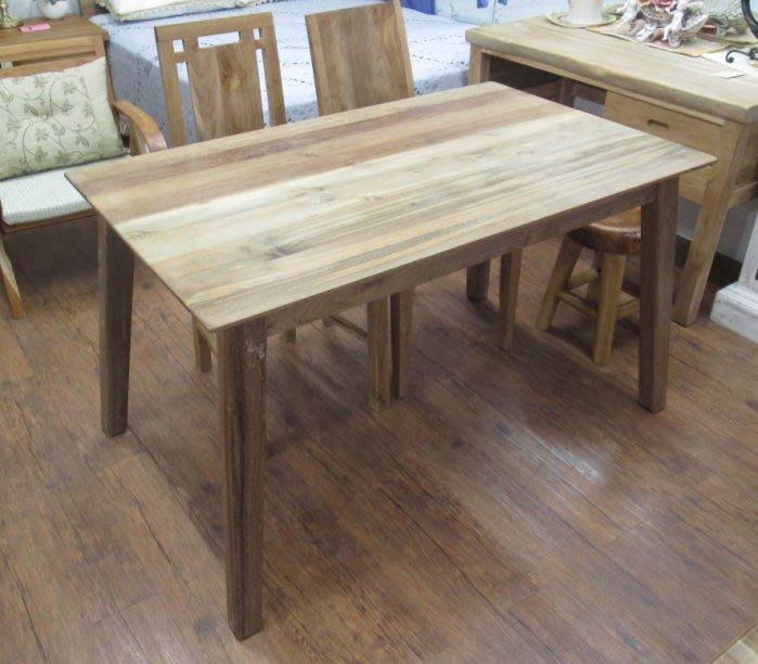 【肯萊柚木傢俱館】(訂製款)獨特自然 100%老柚木 無上漆 實木腳 實用耐用 餐桌 工作桌 限量商品