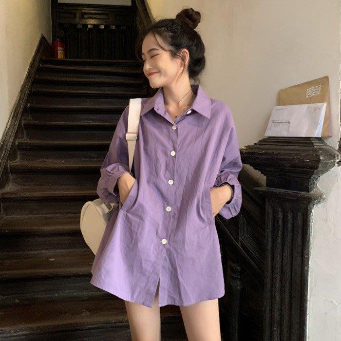 小香風 短袖T恤 時尚穿搭 韓版 中長款寬松POLO領小個子下衣失蹤長袖防曬襯衫女