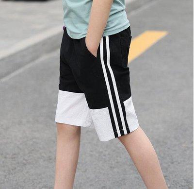 男童褲子 夏季薄款短褲 2019新款兒童運動褲 中大童潮童裝 五分褲中褲 個性男童夏季清涼褲子