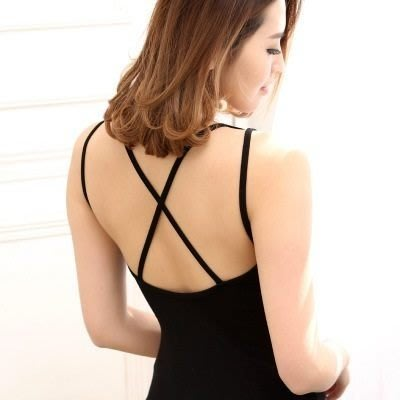 吊帶小背心 T-bra-優雅鏤空美背設計女內衣2色73il23[獨家進口][米蘭精品]