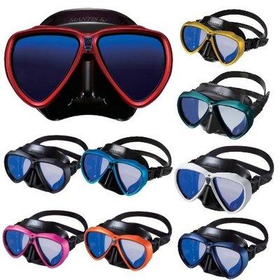 【潛水專家】GULL MANTIS LV 雙框黑矽膠潛水面鏡 (共九色可選) 送除霧劑