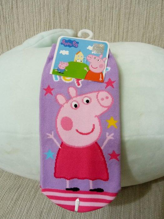 天使熊小鋪~ 粉紅小豬直版襪 (中)現貨2款粉紅豬小妹&喬治  全新現貨
