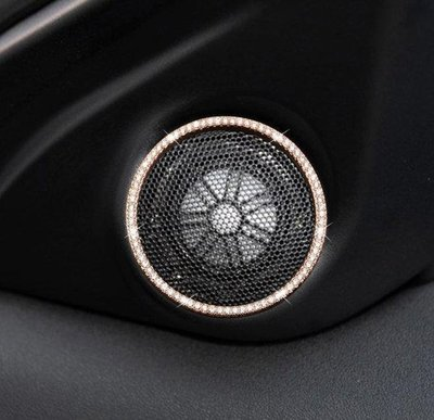 Land rove路虎 攬勝運動版高音喇叭裝飾圈攬勝極光Range Rover Evoque運動版喇叭圈鑲鑽裝飾貼~ne