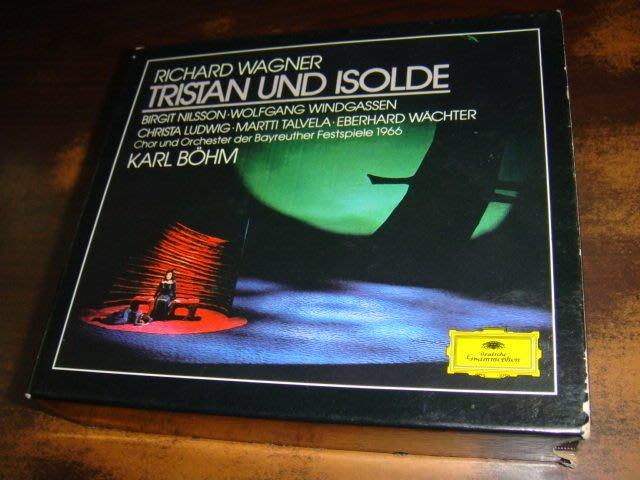 好音悅 半銀圈 Bohm 貝姆 Wagner 華格納 崔斯坦與伊索德 DG 3CD 1966拜魯特音樂節 德PMDC版