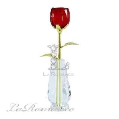【芮洛蔓 La Romance】璀璨水晶玫瑰女人花 - 紅 / 母親節禮物 / 禮品 / 贈禮 / 情人節
