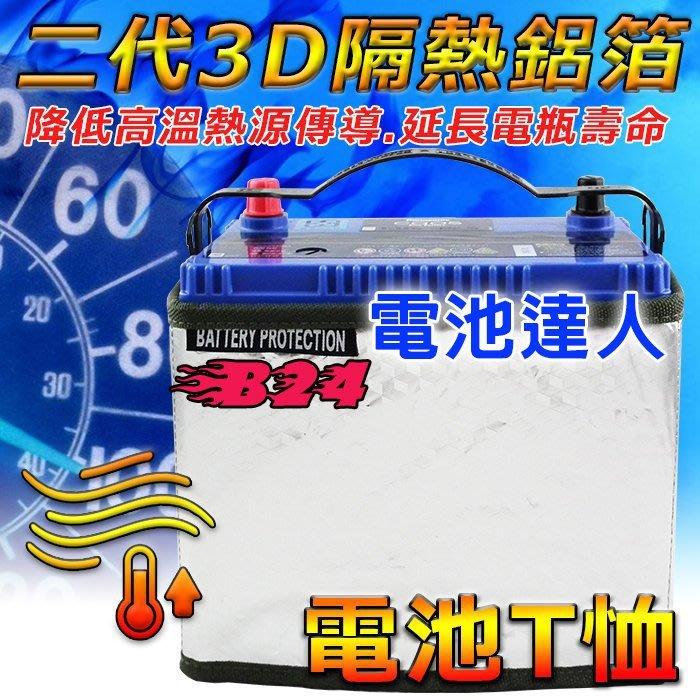 〈鋐瑞電池〉第二代 B24規格  汽車電池 隔熱套 K10 3D-隔熱鋁箔 隔絕熱源 避免熱衰竭 延長電瓶壽命