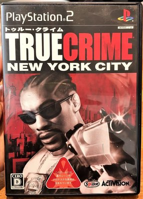幸運小兔 PS2遊戲 PS2 TRUE CRIME 真實犯罪 極道獵車手2 紐約市 初回版 盒書完整 日版遊戲 C4