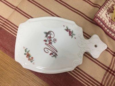 鄉村童話 Many 草莓陶瓷古典 起司板 餐桌食器 日本製