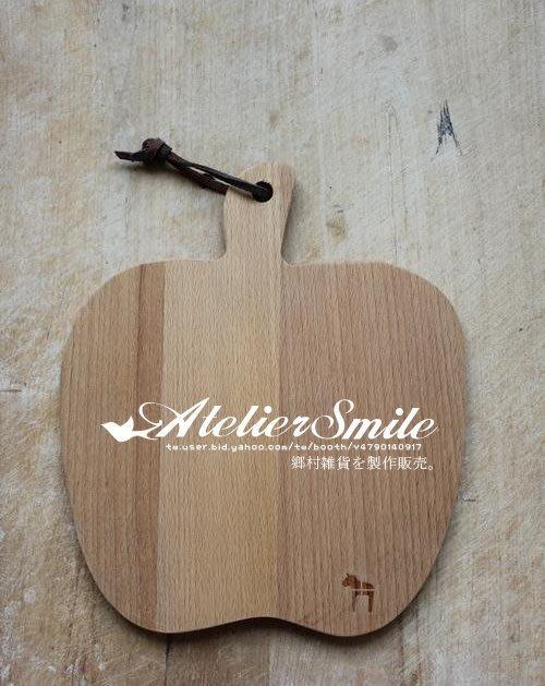 [ Atelier Smile ] 鄉村雜貨 歐洲進口櫸木 烘焙廚房專用 無漆蘋果砧板 (現+預)