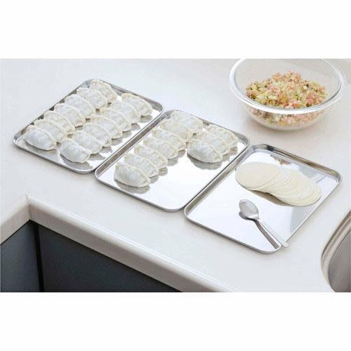 ◎Life Sense◎【下村企販】日本製 18-0 不鏽鋼料理準備盤 不銹鋼長方盤 備料盤 淺盤 一組3入