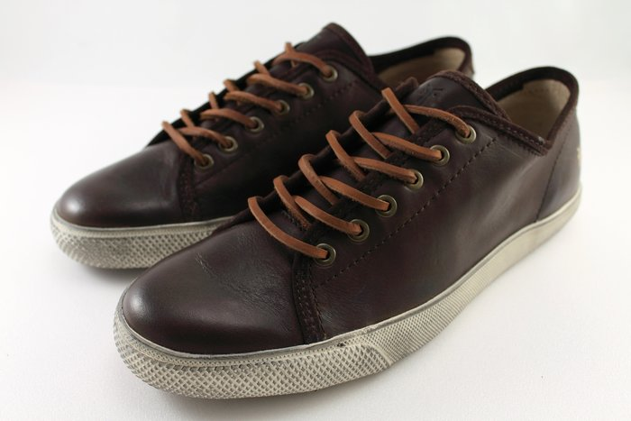 INDiCE ↗ Frye Chambers 男性繫帶低筒皮革休閒鞋 可可棕