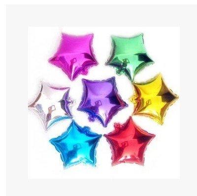 多色24吋五角星型素面鋁箔氣球生日慶生...