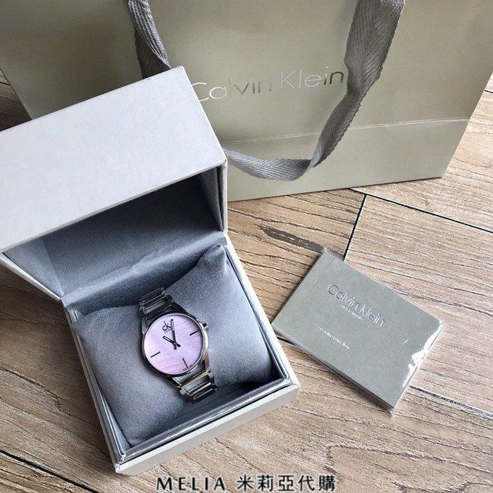 Melia 米莉亞代購 Calvin Klein CK 2018ss 6月新品 女款 手錶 鋼帶 粉色錶盤 數量有限