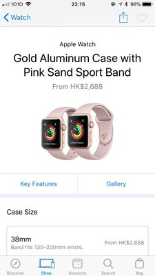 iPhone watch series 3, 38mm