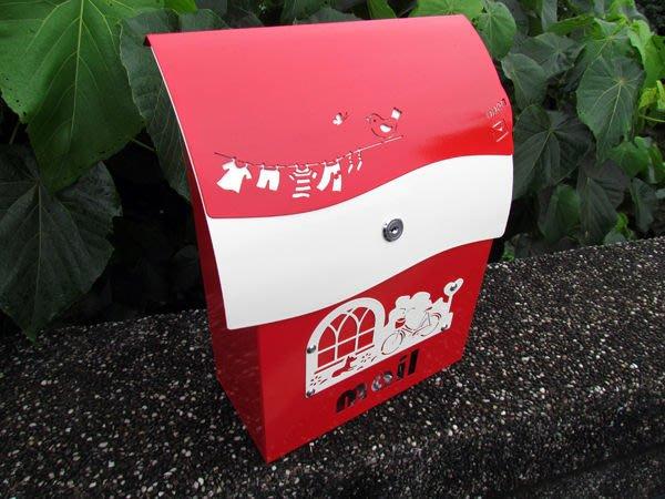 ☆成志金屬廠 ☆ 彩色 鋁合金 信箱(小)--有鎖---紅色特別版
