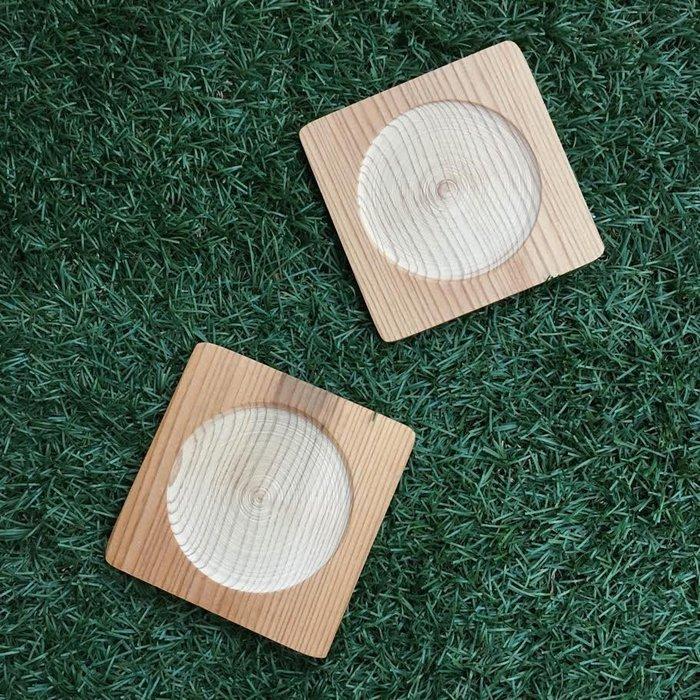 原木圓生。再生 方圓杯墊 / 免運 台灣檜木 文創 手作 木作 創意 原創 IKEA 無印良品 誠品 台灣製 MIT