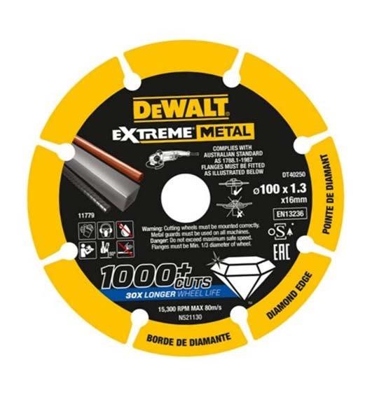 """【大黃工具】美國 DEWALT 得偉 規格 4"""" 鑽石鋸片 4吋 金屬鋸片 切割鋸片 鐵管白鐵 金屬切片 DT40250"""