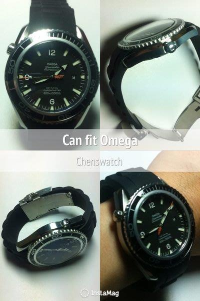 【錶帶家】20mm 22mm (矽膠錶帶非鋼帶) 代用 帝舵 Tudor 勞力士 遊艇  Omega 007 Rolex