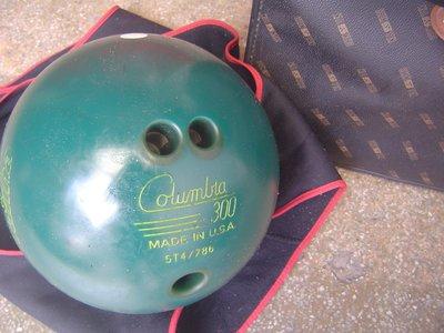 ((拍賣就是要撿便宜))..二手商品一Columbia300 保齡球(綠色4.8KG)一USA