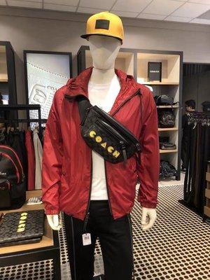 COACH 72924 吃豆人腰包 胸包 男女通用 雙拉鏈隔層 實用個性 潮流時尚