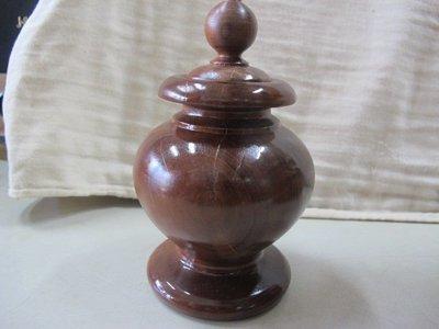 二手舖 NO.1381 肖楠木雕擺飾 聚寶盆 聞香瓶 重油 扎實 帶財 檜木 原木 檀木 老杉