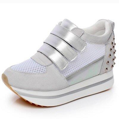 增高鞋(零碼賠售出清、恕不退換)-厚底增高透氣舒適女鞋子56n48[獨家進口][米蘭精品]