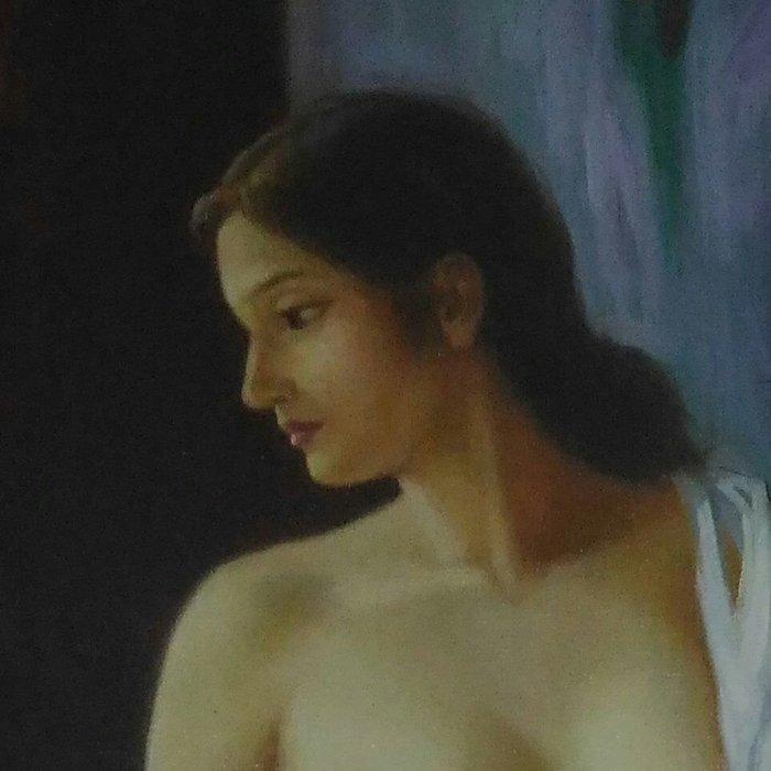 大陸名油畫家李聲華 的無框的油畫有英文落款。24*36吋長.有賣方公司證明書。可面交  自取。