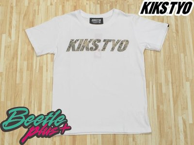 BEETLE PLUS 西門町實體店面 KIKS TYO LOGO TEE 蛇紋 布貼 白色 XL