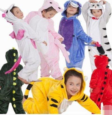 睡衣 恐龍裝 兒童卡通連體睡衣法蘭絨男童女孩寶寶親子動物恐龍連體居家服—莎芭