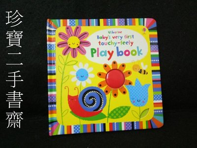 【珍寶二手書齋T3】USBORNE BABY'S VERY FIRST TOUCHY-FEELY LIFT-THE