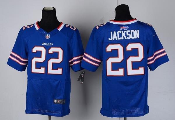 漫無止境wkky NFL橄欖球球衣 Buffalo Bills 布法羅比爾 22# JACKSON 精英版
