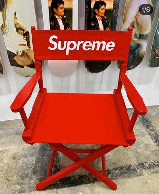 【車庫服飾】收藏品出售 Supreme  19SS Director's Chair 紅色木製導演椅  現貨