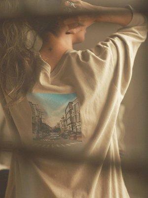 【預購】日本連線Ungrid春20新入荷バックフォトロングスリーブTee美式城市街道印花圓領長T恤棉衣BEAMS韓國*