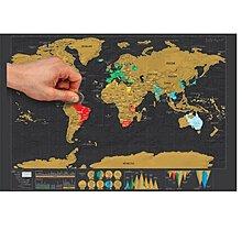 熱銷迷你黑色奢華版刮刮地圖 小號Scratch Map世界版旅游日志地圖 【粉紅豬】