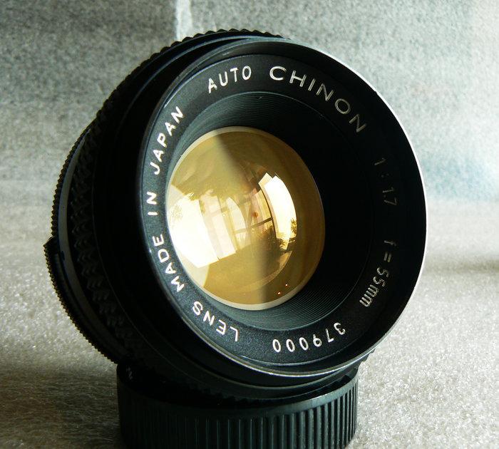 【悠悠山河】 *~近新品~* 穿光精靈--富岡標頭 優彩神鏡 Tomioka CHINON 55mm F1.7 M42