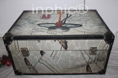 INPHIC-復古箱子 百寶箱 儲物箱 收藏箱 工具箱 收納箱 皮箱子