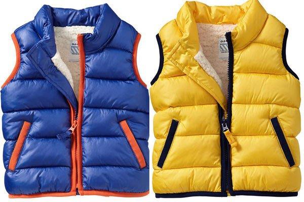 【BJ.GO】美國OLD  NAVY 童裝_Sherpa-Lined Frost Free Vests for Baby 帥氣毛絨襯裡保暖背心 現貨+代購