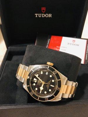 勞力士 子廠 TUDOR Heritage Black Bay 黑水鬼半金 日誌型機械腕錶-41mm~全新真品