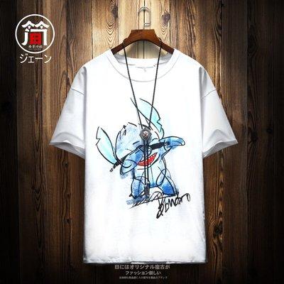 @夢熱漫動 嘻哈rap說唱二次元動漫卡通街舞潮牌中性透氣舒適學生短袖T恤潮夏