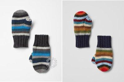 IWant美加代購 美國正品Baby Gap ♥  藍灰 彩色 條紋 手套 【現貨】XS/S-S/M