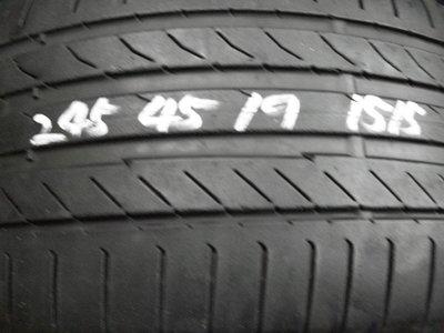 【宏勝輪胎】中古胎 落地胎 維修 保養 底盤 型號:245 45 19 馬牌CSC5 2條